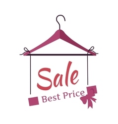 Best price sale banner fashionable clothes vector