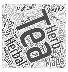 Tea herbal tea text background wordcloud concept vector