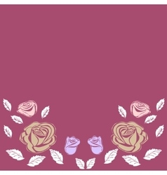 Greeting card roses wedding birthday holiday vector