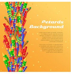 Petards background pyrotechnics colorful rockets vector
