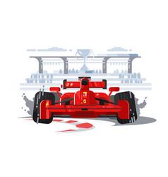 Sport car in race vector
