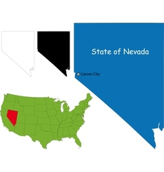 Nevada map vector