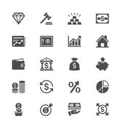Business and investment flat icons vector image