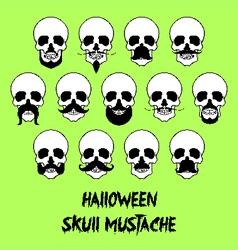 Halloween skull mustache vector