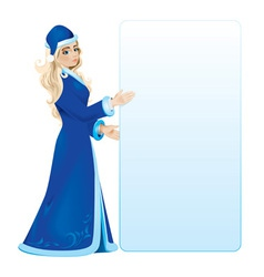 Snow maiden vector