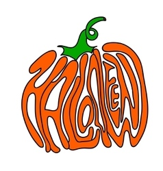 Pumpkin lettering for halloween on a background vector