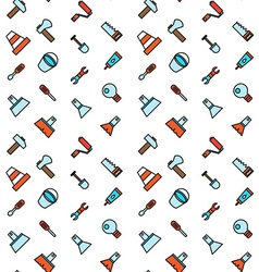 Constructing and building icons seamless pattern vector