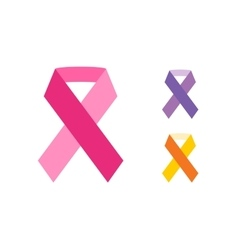 Breast cancer ribbon on white background vector