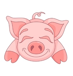 Cute pig funny piggy vector