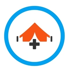 Filed hospital rounded icon vector