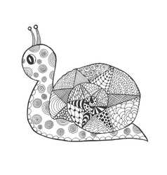 Zentangle stylized snail vector