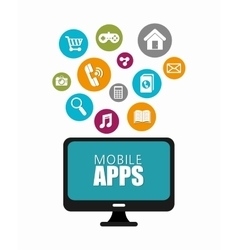 Mobile apps design vector