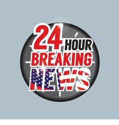 24 hours breaking news vector