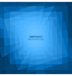 Abstract blue geometric tunnel background vector