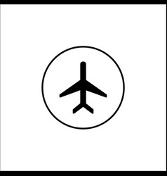 airplane mode solid icon mobile sign vector image vector image