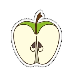 apple fruit icon image vector image vector image