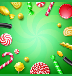 candy flat lay vector image vector image