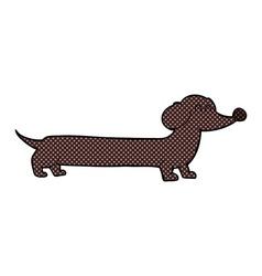 comic cartoon dachshund vector image
