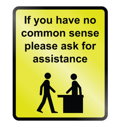 Common sense vector