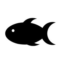 Cute fish mascot isolated icon vector