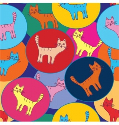 cute seamless pattern with cats vector image vector image
