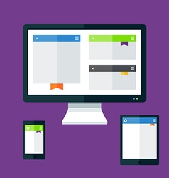 Devices flat vector image