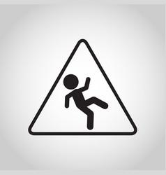 Falls prevention logo icon vector