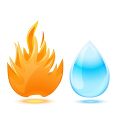 fire water vector image vector image