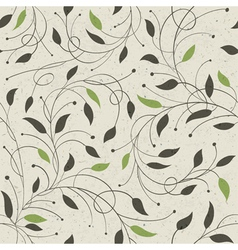 floral seamless ornament vector image