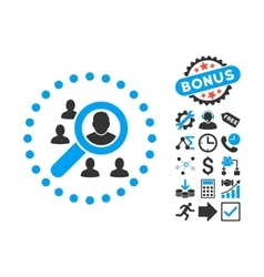 Marketing Flat Icon with Bonus vector image vector image
