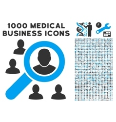 Marketing Icon with 1000 Medical Business vector image vector image