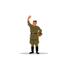 North Korean soldier in uniform sign vector image