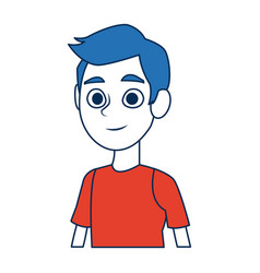 Portrait young boy male student people vector