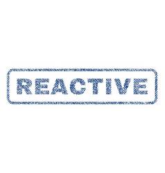 Reactive textile stamp vector