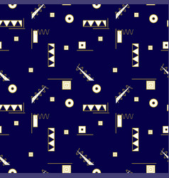 Seamless memphis pattern vector