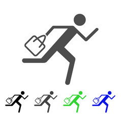 Shopping running man flat icon vector
