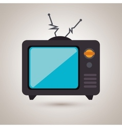tv retro design vector image