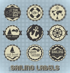 Vintage Style Sailing Labels vector image vector image