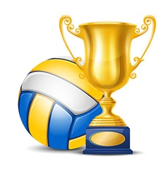 Volleyball cup vector image