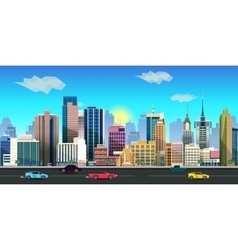 City game background 2d application vector