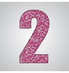 Pink sequins sings sequins alphabet eps 10 vector