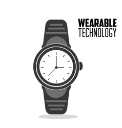 Smart watch trendy display wearable technology vector