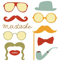 Funny mustache party vector