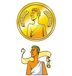Emperor coin vector