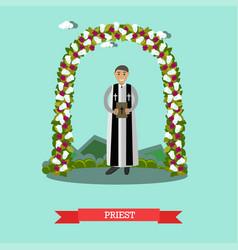 Flat of priest under wedding vector