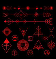 Geometric design elements vector
