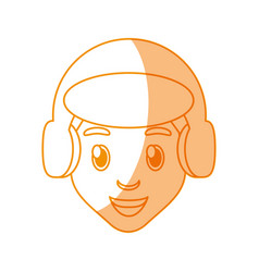 boy face cartoon vector image