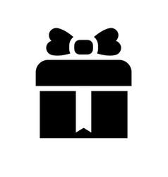black shopping icon vector image
