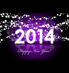 2014 - New Year background vector image vector image