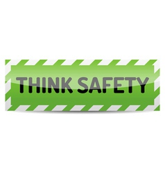 Think safety vector image